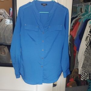 Premise Studio Blue Blouse